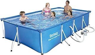 comprar comparacion Bestway 56424 - Piscina Desmontable Tubular Infantil Family Splash Frame Pool 400x211x81 cm Depuradora de cartucho de 1.24...