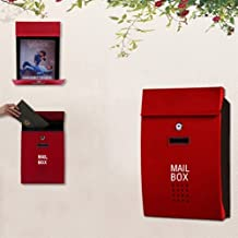 Mailbox Wall Mounted Large Mailbox Postbox Outdoor Mail Post Letter Box Steel Elegant Uptodate