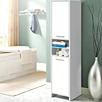 Artiss Bathroom Cabinet Narrow Tall Cupboard Storage Tallboy for Dinning Room & Toilet Cabinets with Multiple Adjustable...