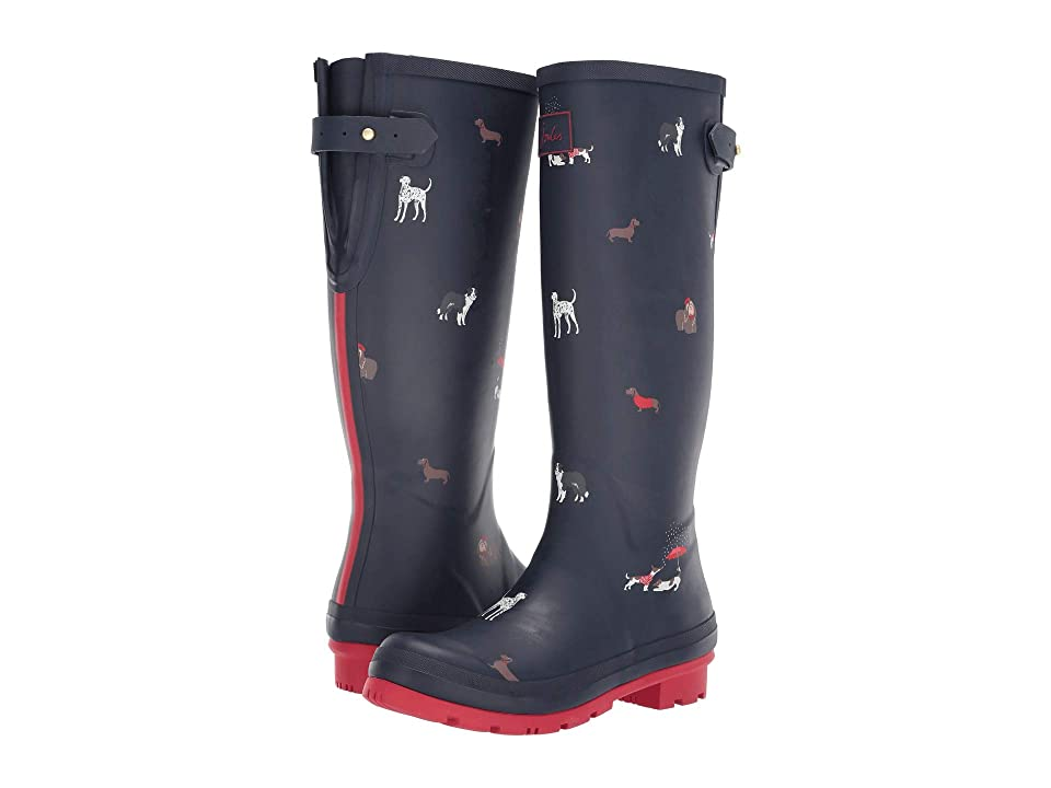 Joules Welly Print (Navy Dogs) Women