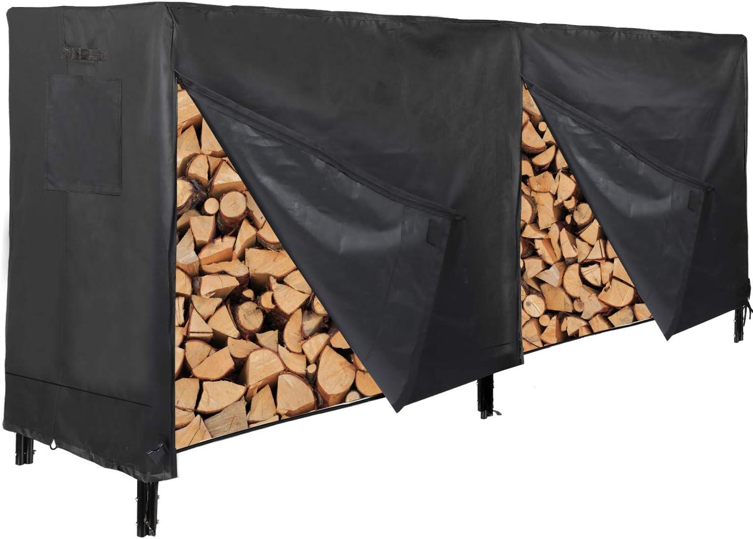 CAMPMOON 8FT Firewood Rack Covers Oxfor Max 43% OFF Overseas parallel import regular item 600D Durable Waterproof