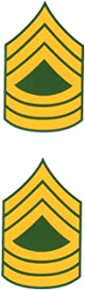 Army E-8 Master Sergeant Mini Decals Stickers 1 5/8