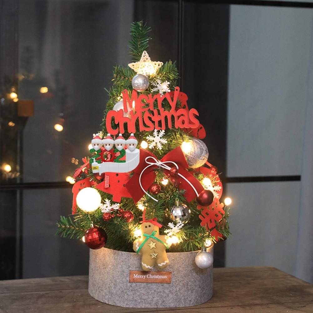 WQSFD 60cm Max 68% OFF Small Christmas Tree Desktop with Max 79% OFF Mini Lights Decorat