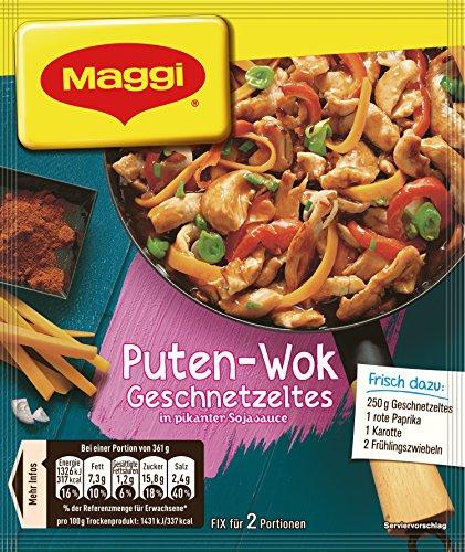 Maggi Fix und Frisch für Puten-Wok Geschnetzeltes, 1er Pack (1 x 37 g)