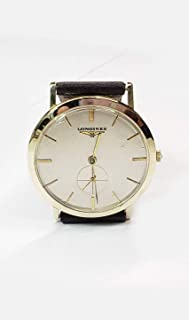 Longines Unisex WristWatch in 14kt. Gold Case, Leather Band