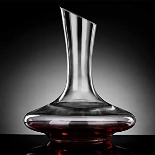 zhixing Classical Wine Decanter Wine Jug 100% Lead-Free Crystal Wine Carafe 1000ml Decanting Aerator Accessories for Drinker Family Party Business