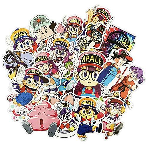 DSSJ Maleta Arale de Dibujos Animados, Trolley Adhesivo Fuerte, Maleta, Maleta, Pegatinas, Guitarra, Ordenador, Pegatinas Impermeables, 24 Uds.