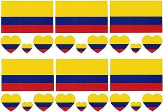 Daqin Colombia Mureza Mutsara Wekodhi Isina Mvura Yenguva Pfupi Tattoo Kushambadzira-kuonekwa Zviso Zvetikiti Zvakagadzirisa Chikamu Mapambo 6 Setsva (Color : Colombian flag)