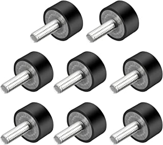 uxcell M6 Thread Rubber Mounts,Vibration Isolators,Cylindrical Shock Absorber with Studs 20mm x 10mm 8pcs