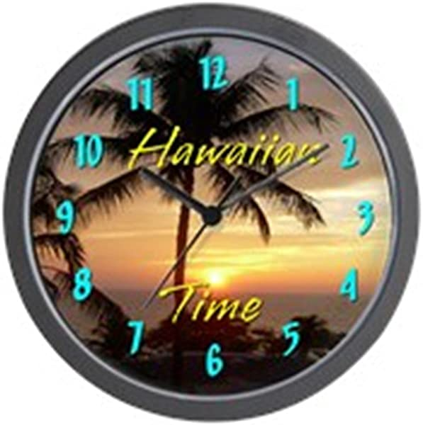 CafePress Hawaiian Time Unique Decorative 10 Wall Clock