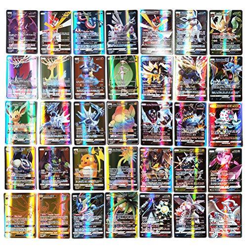 200 pièces Ensemble de Cartes Pokemon Carte de Jeu de Dessin animé Enfants GX Cartes à Collectionner y Compris 20 énergie + 10 entraîneur + 170 Gx