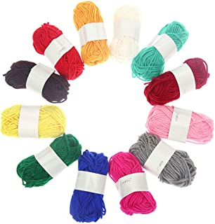 12PCS Knit Yarn Creative Multiuse DIY Acrylic Yarn Craft Making Yarn for Kids