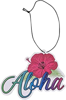 Sponsored Ad - Aloha Designs 3 Pack Aloha Hawaii Hibiscus Long Lasting Coconut Air Freshener With Colorful Letters | Decor...