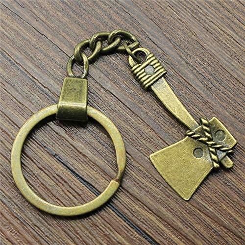 Zbzmm sleutelhanger accessoires bijl sleutelhanger antiek brons vintage handgemaakte sleutelhanger party geschenk sieraden 40mm