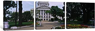 """iCanvasART 3 Piece State Capital Building, Madison, Wisconsin, USA Canvas Print by Panoramic Images, 48 x 16""""/0.75"""" Deep"""