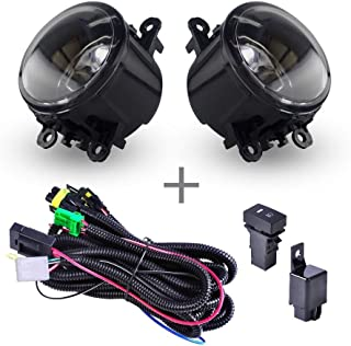 Fog Light Lamps Replacement Assembly With H11 Bulbs Wiring Kits For Acura Honda Ford Nissan Subaru Suzuki Lincoln Jaguar