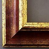 Bilderrahmen Acta Rot Gold 6,7 - Über 100 Größen - 4 Ausstattungsvarianten - Leerrahmen ohne Glas...