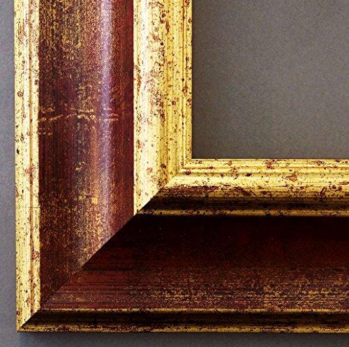 Online Galerie Bingold Bilderrahmen Acta Rot Gold 6,7 - Über 100 Größen - 4 Ausstattungsvarianten - Wechselrahmen mit Museumsglas (UV-Schutz 45% - entspiegelt) - 15 x 20 cm - Antik, Barock