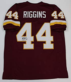 John Riggins Autographed Burgundy Redskins Jersey - Hand Signed By John Riggins and Certified Authentic by JSA - Includes Certificate of Authenticity