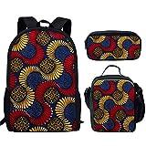 fhdc Mochila Mochilas Escolares De Patrón Tradicional Africano Moda Niños 3Pcs / Set Mochilas Escolares Mochilas Ortopédicas para Adolescentes SatchelHn995Cgk