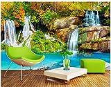 HCWYQ Fototapete Kinder Kinder Schlafzimmer 3D Natürliche Herbstblick Wasserfall Wälder Tapeten DIY Tapete Silk Cloth (W) 200X(H) 140Cm