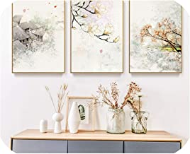 Chinese Ink Floral Abstraction 3 Pieces Wall Art Print Picture Canvas Painting Poster for Living Room No Framed,40x60cm No Frame,3pcs