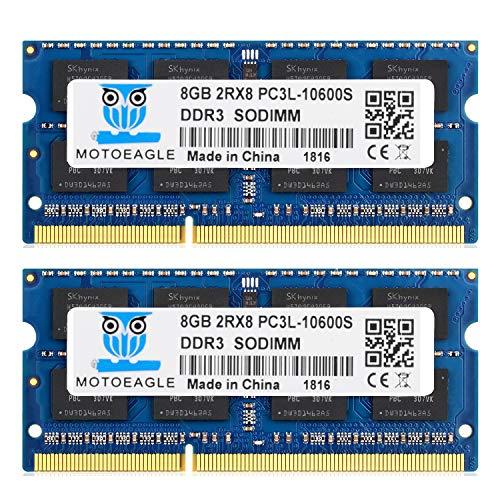 motoeagle Kit de memoria DDR3 de 16 GB (2 x 8 GB), 1333 MHz, PC3 10600 10700, 8 GB, SODIMM, 204 pines, sin búfer, sin ECC, 1,5 V, CL9 2Rx8