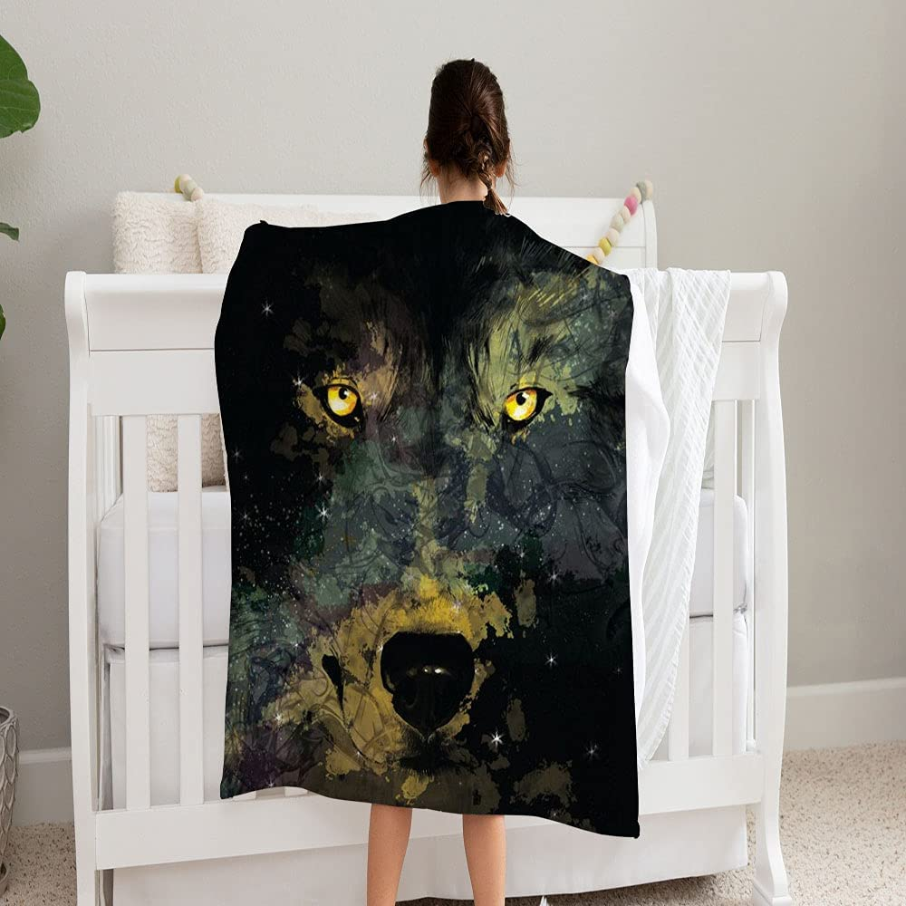 GANTEE Nebula Wolf Shape On Night Soft Sky Blanket Super Co OFFicial site and Omaha Mall