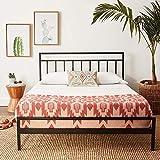 Best Price Mattress King Bed Frame - Mission 10 Inch Heavy Duty Metal Platform Bed w/Headboard Mattress Foundation (No Box Spring Needed), Black