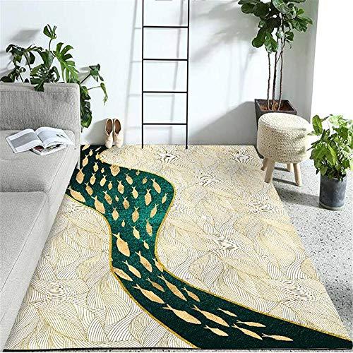Kunsen alfombras Grandes Alfombra para Salon Rectángulo de la decoración de la Sala de Estar de la habitación de los niños de la Alfombra Verde Amarillo moqueta 160X230CM 5ft 3' X7ft 6.6'