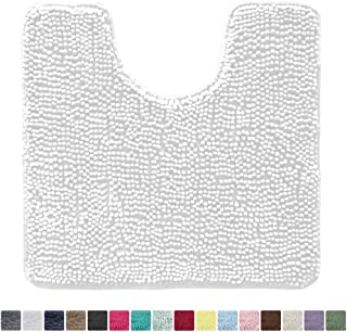 U-Shaped Non Slip Absorbent Thick Soft Washable Bathroom Rugs Floor Carpet Bath Mat for Bathroom Sink Toilet Buganda Memory Foam Contour Toilet Bath Rug 20 x 24, Beige