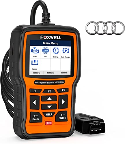 wholesale (2021 Enhanced Version) FOXWELL NT510 discount Elite Code Reader for VAG(VW, Audi, Skoda, Seat), discount All Systems Diagnostic Scanner, OBD2 Scan Tool for All Car, All Functions Reset ABS SAS EPB TPMS Oil Light etc outlet sale