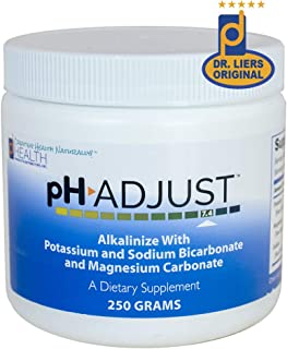 pH Adjust Alkalinizing Formula | Alkalinize with Potassium and Sodium Bicarbonate and Magnesium Carbonate | Rapidly Balances pH Levels | Tastes Good | Easy to Use Fluffy Powder | 250 GM