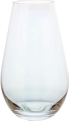 花瓶 ガラス花瓶 おしゃれ ガラス製花器 北欧スタイル ピンク 水耕栽培 造花 シンプル花器 現代 シンプル (虹色, ラージ)