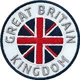 Club of Heroes 2 x Great Britain Abzeichen gestickt 60 mm/Groß-Britannien Kingdom/Königreich England Reise Flagge Wappen Fahne Brexit/Aufnäher Aufbügler Flicken Sticker Patch/Reiseführer