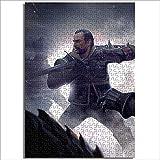 Rompecabezas de impresión digital HD The Witcher Card Game King Power Lost Warrior Duel Bear Horror Demon 1000 piezas rompecabezas de madera