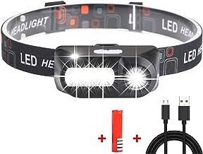 YINGNBH Hoofd Zaklamp Koplamp 8 LED Koplamp 60000LM 8 modi Waterdichte LED Hoofd Zaklamp Lantaarn Met Rood Licht Voor Outd...
