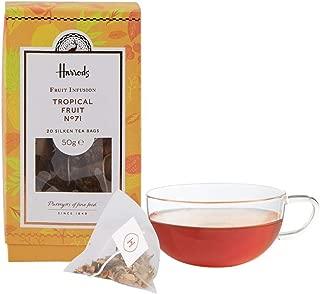 Harrods London No. 71 Tropical Fruit 20 Silken Tea Bags 50g (1 Pack) Usa Stock