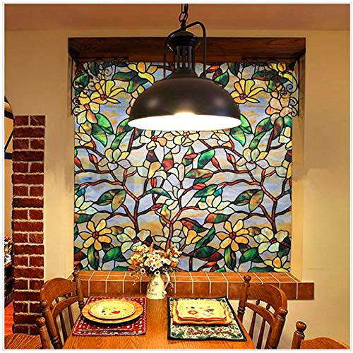 KUNHAN raamsticker Marokko glas in lood raamfolie privacy decoratieve film statische lijm raam Art Sticker venster deur Decor