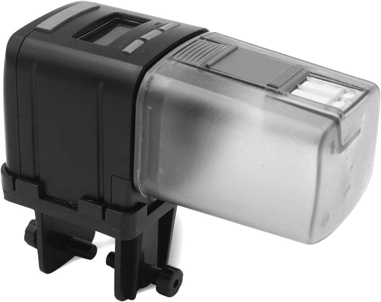 Alimentador automático de pescado, dispensador de alimentos de pescado automático alimentador electrónico temporizador para tanque de peces con pantalla LCD, alimentación diaria adecuada para acuario