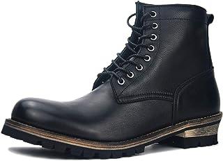 Suetar Men's Retro Genuine Leather Motorcycle Martin Boots JH-1029