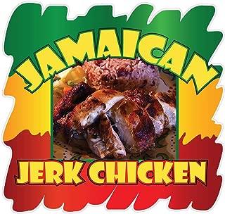 Die-Cut Sticker Multiple Sizes Jamaican Jerk Chicken Style B Restaurant & Food Jamaican Indoor Decal Concession Sign Brown 18in Longest Side