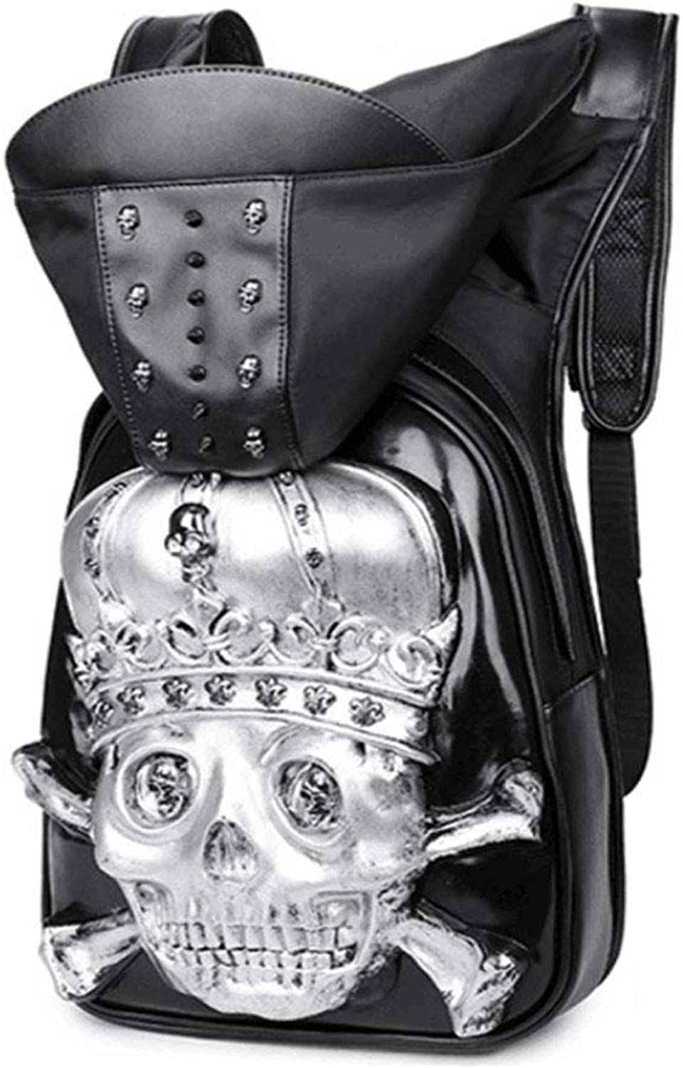 Backpack Men and Women 3D Skull Personality Computer Bag hat Bag
