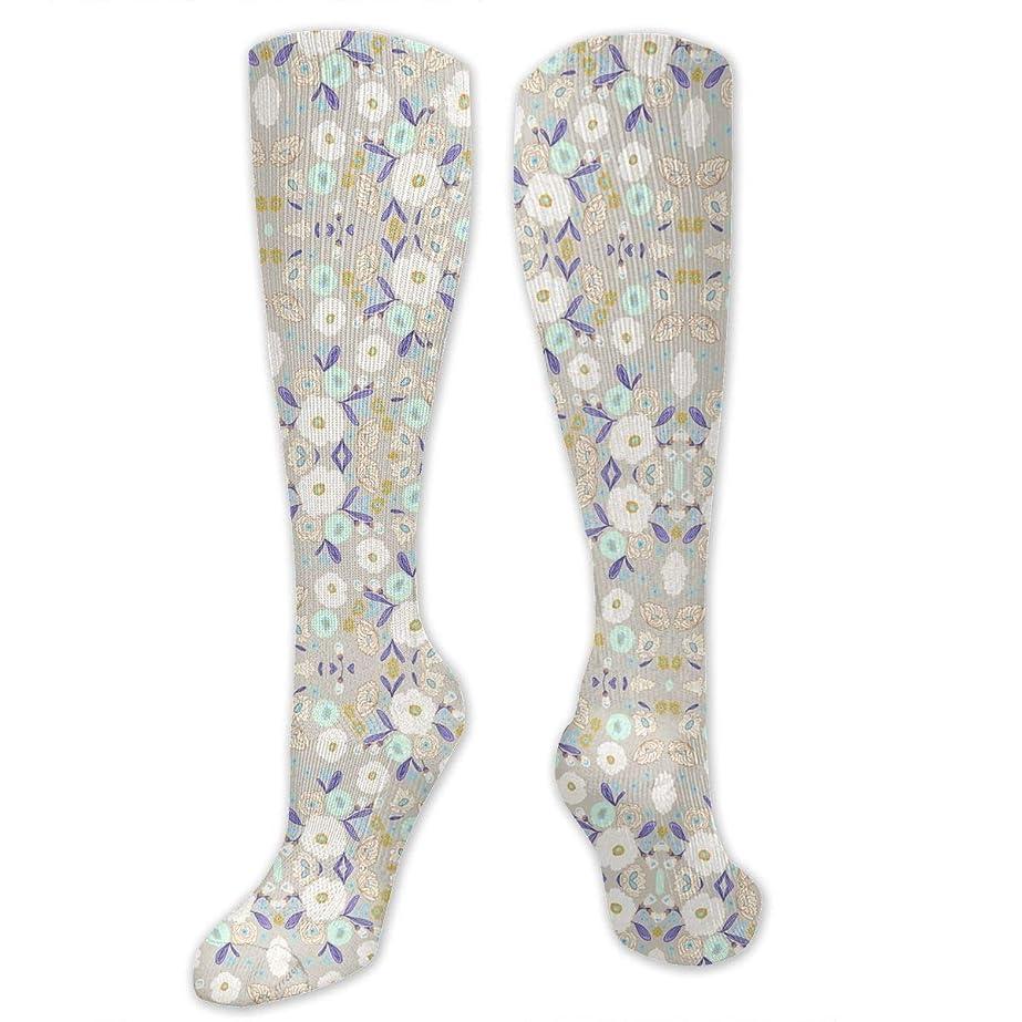ライブ合わせてポンド靴下,ストッキング,野生のジョーカー,実際,秋の本質,冬必須,サマーウェア&RBXAA Indy Bloom Design Iced Florals Socks Women's Winter Cotton Long Tube Socks Cotton Solid & Patterned Dress Socks