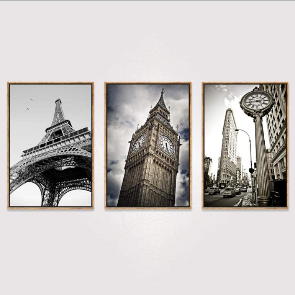 Triptych Canvas Art Mural 3 Pieces European Famous Building Creative Simple Canvas Oil Painting Corridor Living Room Bedroom Triptych Photo Modern Home Warm Hanging Picture C2 Amazon Co Uk Kitchen Home