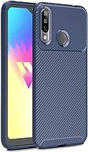 Mobile phone case Beetle Series Carbon Fiber Texture Shockproof TPU Case for LG W30(Black) (Color : Blue)