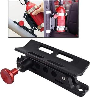 GFYSHIP Vehicle Universal Roll Bar Bottle/Fire Extinguisher Holder Mount,Adjustable, Aluminum