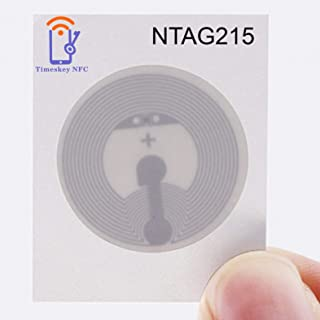 Timeskey NFC 10PCS NTAG 215 NFC Stickers NXP NTAG215 NFC Tags 100% Compatible with TagMo and Amiibo, 504 Bytes Memory Full...