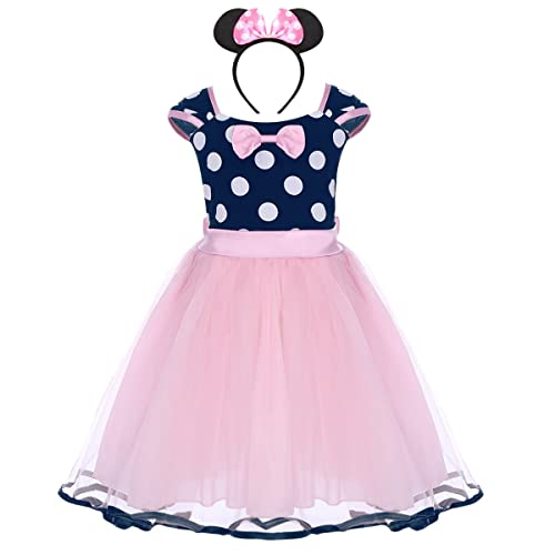 6c3df3fcfc Infant Baby Toddlers Girls Polka Dots Birthday Princess Bowknot Tutu Dress  Cosplay Pageant Dress up Carnival