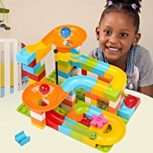 52 PCS Building Bricks Marble Race Track Toy Construction Building Blocks Stem Toys Game for Toddlers Kids Children